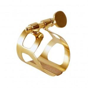 Abrazadera y boquillero clarinete bajo BG L91 Oro