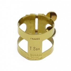 Abrazadera BONADE Invertida dorada - Saxofón tenor