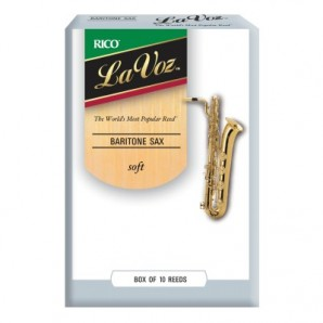Caja 10 cañas RICO La Voz para Saxofón Barítono