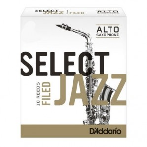 Caja 10 cañas D'ADDARIO Select Jazz Filed para Saxofón Alto