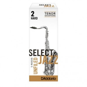 Caja 5 cañas D'ADDARIO Select Jazz Unfiled para Saxofón Tenor