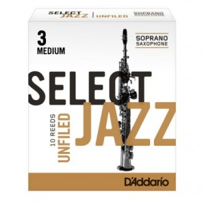 Caja 10 cañas D'ADDARIO Select Jazz Unfiled para Saxofón Soprano