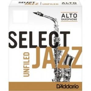 Caja 10 cañas D'ADDARIO Select Jazz Unfiled para Saxofón Alto