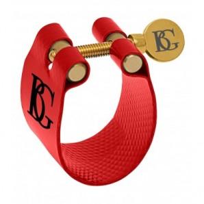 Abrazadera y boquillero BG FLEX 9 Roja para saxofón tenor