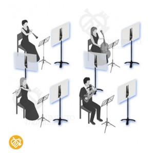 Pantalla Protectora para Músicos - GUIL SMT13
