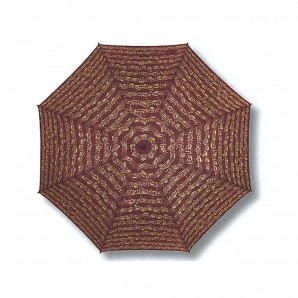 Paraguas PLEGABLE Pentagrama Granate T337
