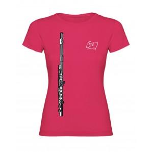 Camiseta Flauta Chica Fucsia XL