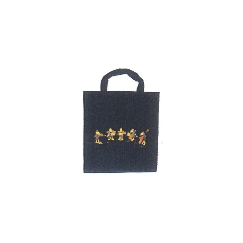 Bolsa Tela Negra con Cuervos