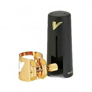 Abrazadera y boquillero saxo barítono Vandoren Optimum Plástico